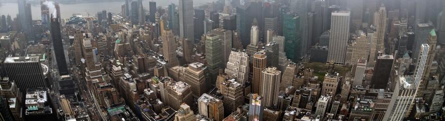new york manhattan skyscrapers aerial view