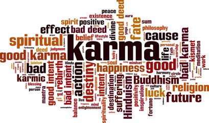 Karma word cloud