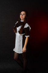 typical school uniform girls in USSR