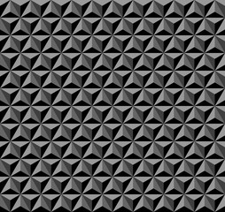 3D geometric pattern. Dark background and texture.