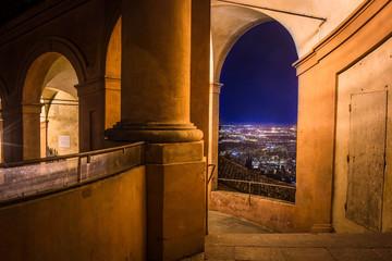 vista su Bologna dalla basilica di San Luca Wall mural