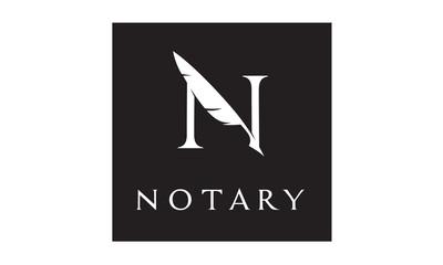 Initial / Monogram N for Notary logo design inspiration