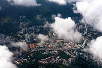 Hong Kong from the top view.