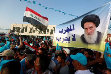 Supporters of Al Sairun Party attend campaign rally in Baghdad