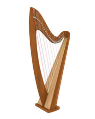 Celtic Harp Isolated