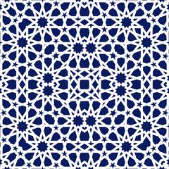 Geometric arabic seamless pattern. Abstract islamic vector background.