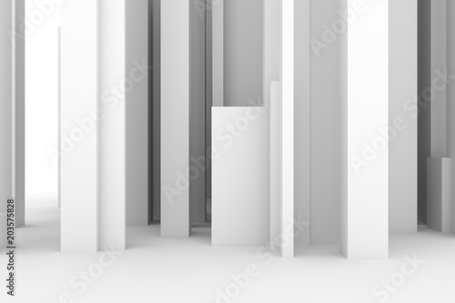 Abstract Modern Pillar Style Soft White Gray Background Space Imagination Wallpaper
