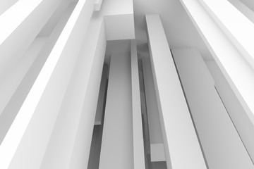 Abstract modern pillar style soft white & gray background. Design, creative, artwork & artistic.
