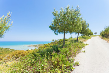 Lido Cala Lunga, Apulia - Hiking trail to the beach of Cala Lunga
