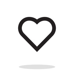 Heart vector icon, like symbol. Trendy, simple flat sign illustration for web
