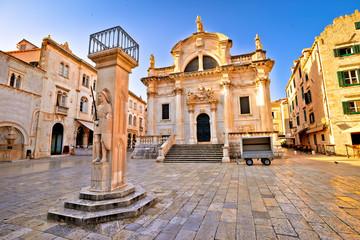 Dubrovnik square historic landmarks view Wall mural
