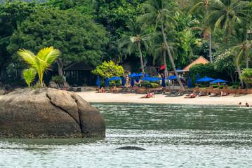 Tropischer Badestrand auf Koh Samui, Thailand
