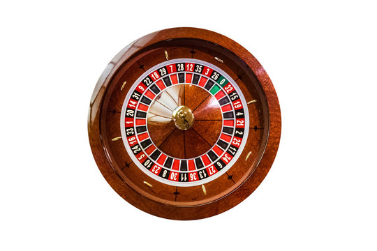 gambling chips on a game table roulette