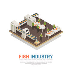 Fish Factory Isometric Background