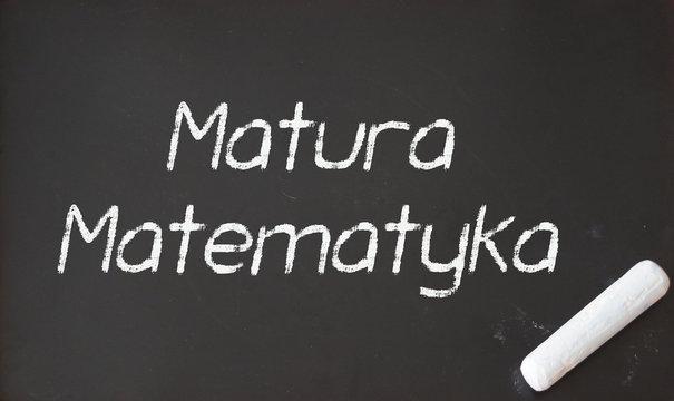 Egzamin maturalny: Matematyka