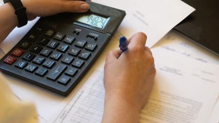 Accountants work analyzing financial reports