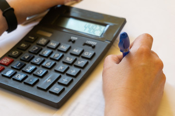 Accountants work analyzing financial reports
