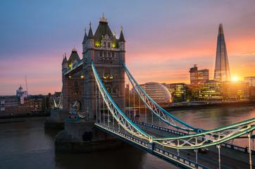 Fotobehang London The london Tower bridge at sunset