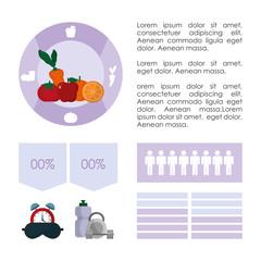 Healthy habits infographic