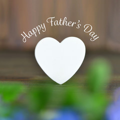Happy Fathers Day card with Fathers Day heart