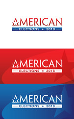 American Voting Logo Banner Illustration Design