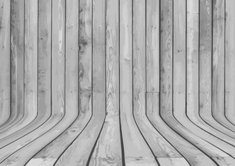 Curved wood display background
