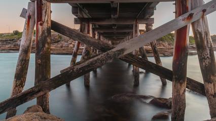 Old Timber Trestle Bridge