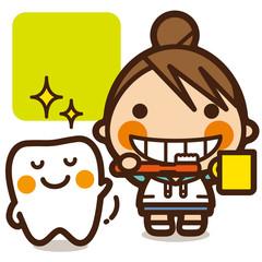 がっこうKids 虫歯予防女子 歯みがき