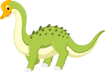 cute dinosaur cartoon posing with smiling
