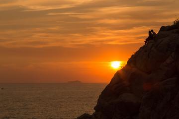 Orange Sunset, Croatia