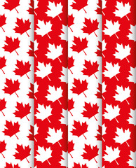 maple leafs canadian pattern background vector illustration design