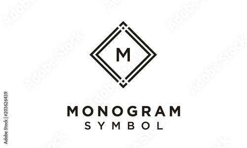 Frame with Initial / Monogram logo design inspiration\