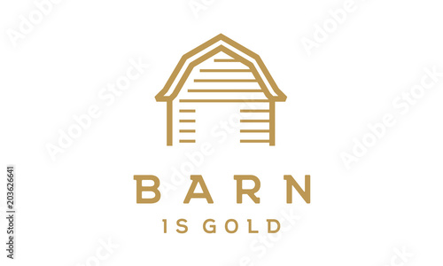 Minimalist Barn Logo Design Inspiration Stock Image And Royalty