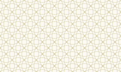 Pattern circle seamless abstract background gold color and line. Geometric line vector.