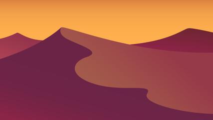 evening desert flat landscape