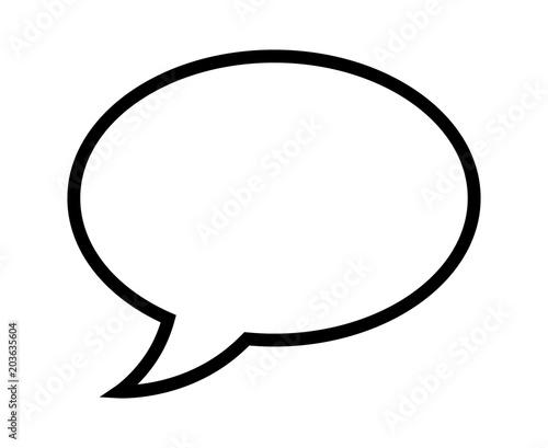 """Speech Bubble / Speech Balloon Or Chat Bubble Line Art"