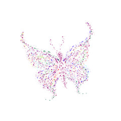 Vector illustration of butterfly on white background.
