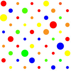 Multi colored dot pattern background seamless tile