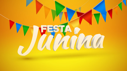 Festa Junina. Vector holiday illustration