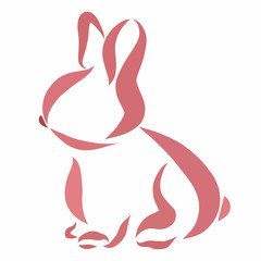 Little cute rabbit, drawing smooth lines