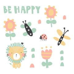 be happy lion set