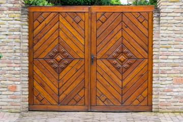 Retro wooden gate