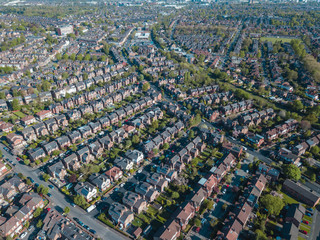 Fotobehang Oceanië Ariel drone view houses in Manchester England Residential