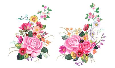 2 vintage bouquets