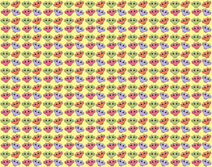 Cheerful colorful background with funny owls