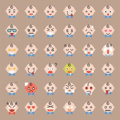 Baby emoticon , flat icon