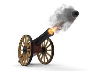 ramadan cannons shot moment. 3d illustration