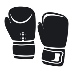 Vector illustration boxing gloves icon