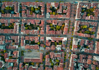 Red roofs of Sofia Bulgaria