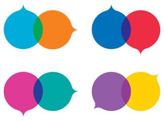 colorful speech balloons set